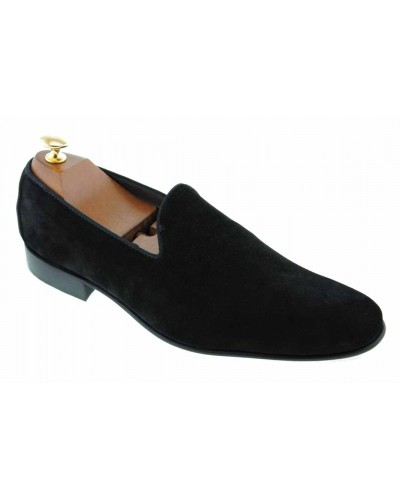 Moccasin slippers sleepers Center 51 Duke  black suede