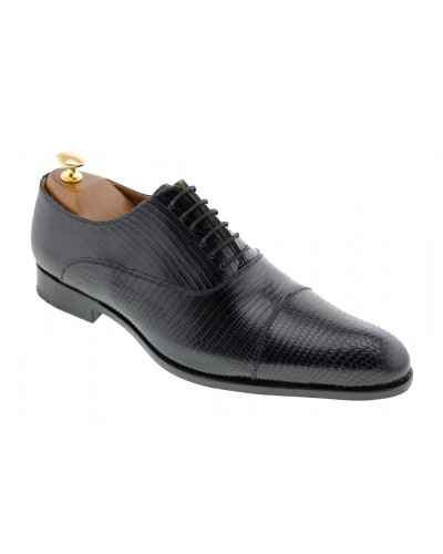 Oxford shoe Baxton  9268 genuine black lizard