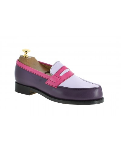 Mocassin Femme John Mendson 0622 cuir multicolore woodberries