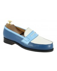 Moccasin John Mendson 2906  multicoloured leather blue alaska