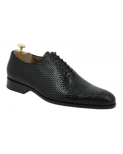 Oxford shoe Baxton  9716  black braided leather
