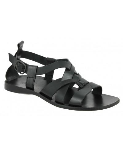 Sandals Zeus 1250 black leather