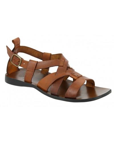 Sandals Zeus 1250 brown leather