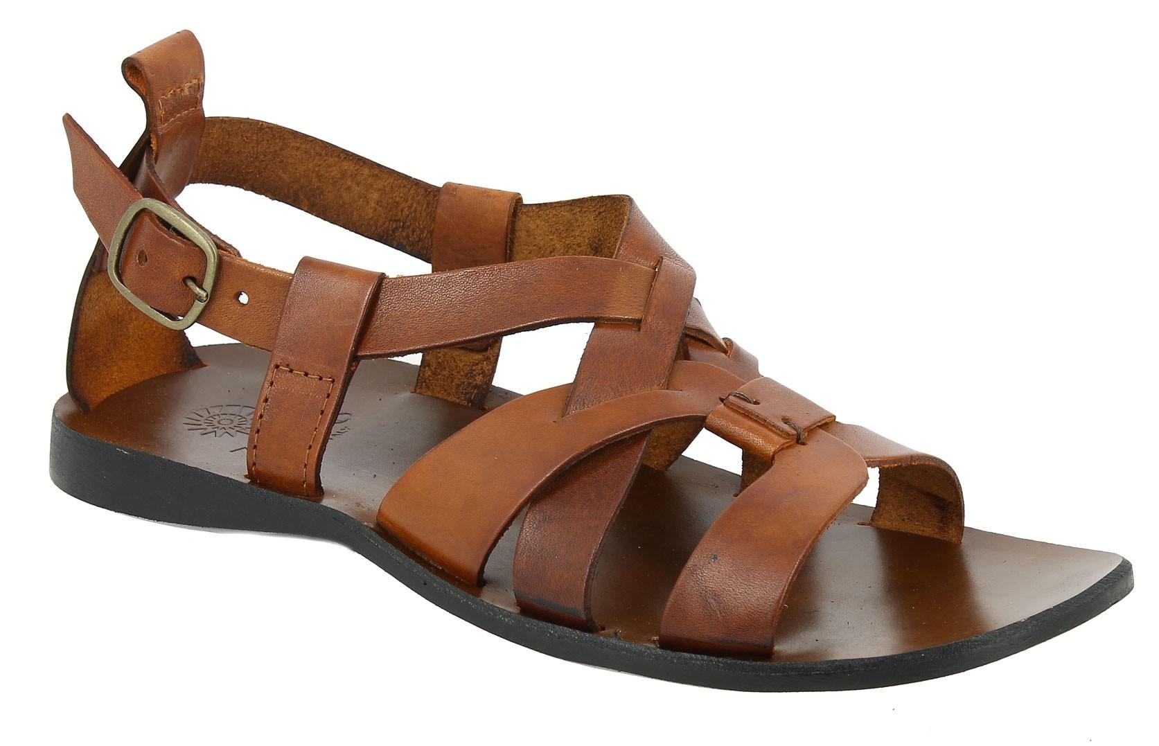 sandals zeus 1250 brown leather center 51