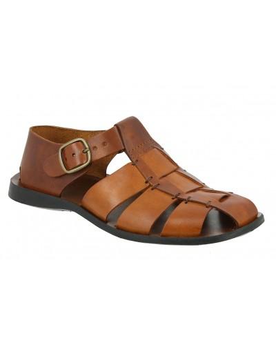 Sandals Zeus 1520 brown leather