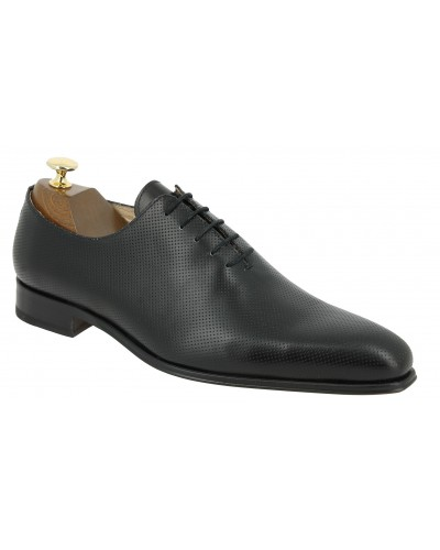Oxford shoe Baxton  10997 Rich black perforated pattern leather