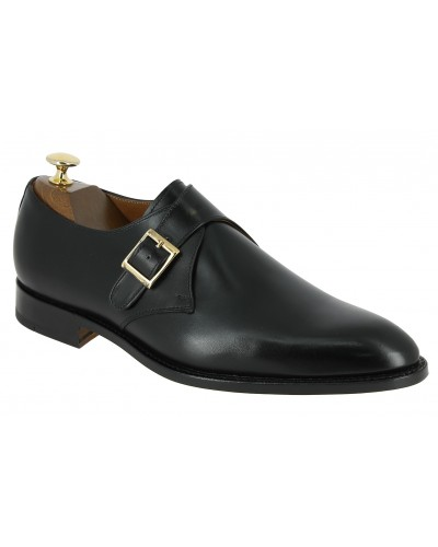 Monk strap shoe John Mendson 9925 black leather