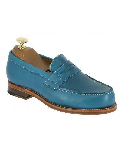 Moccasin Woman Center 51 0622 Wendy gipsy blue leather