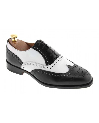 Oxford shoe Baxton  3763 Tim black and white leather
