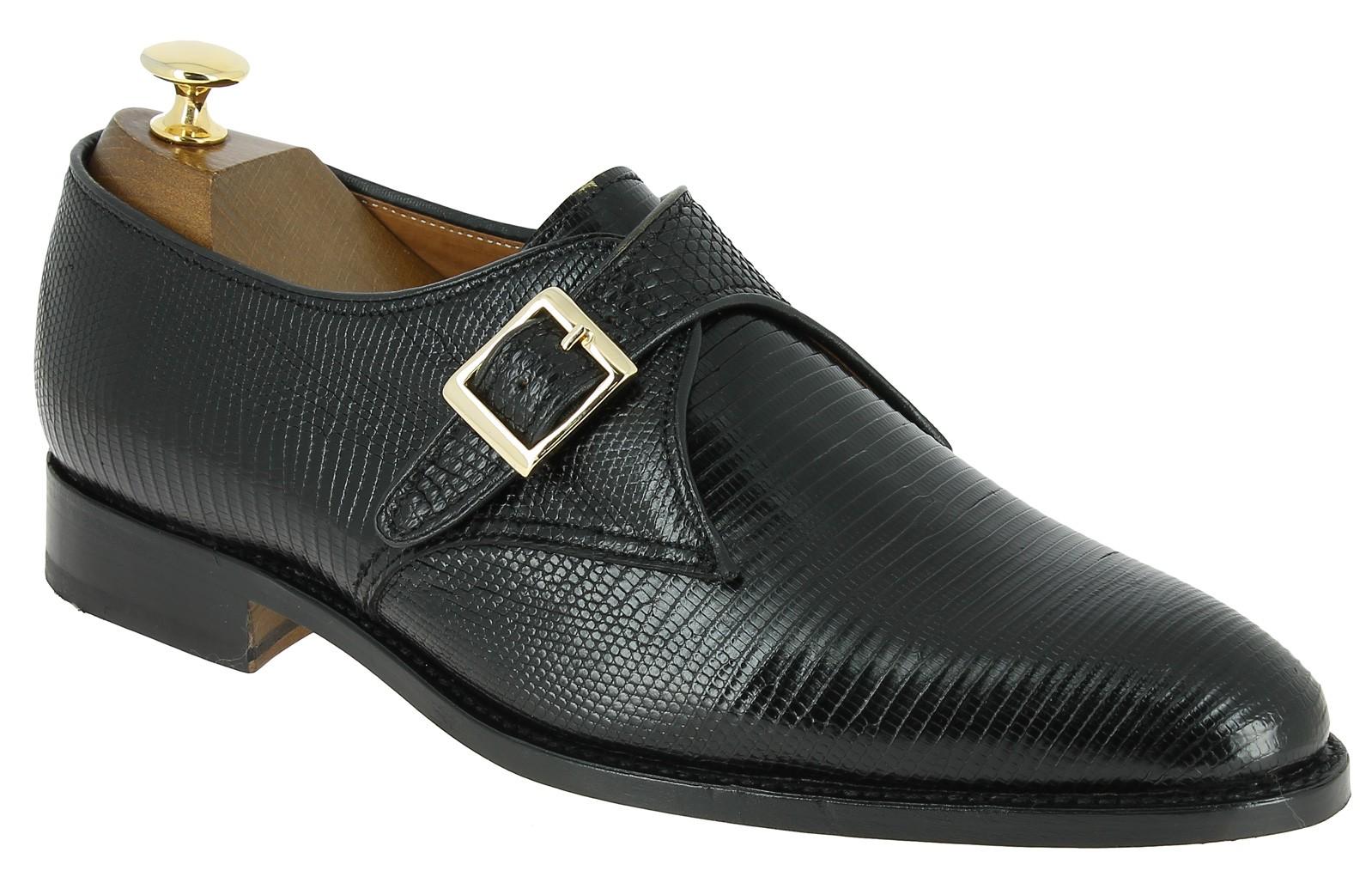 chaussure boucle john mendson 11168 v ritable l zard noir center 51. Black Bedroom Furniture Sets. Home Design Ideas