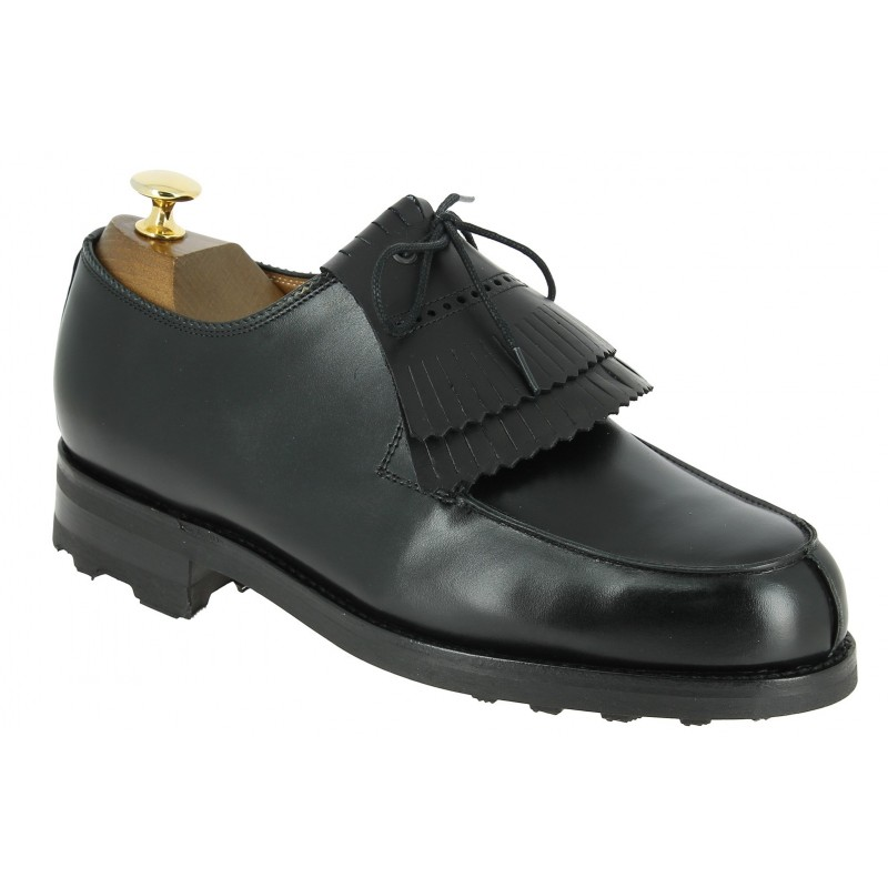 Derby shoe John Mendson 8172 black leather with tassels