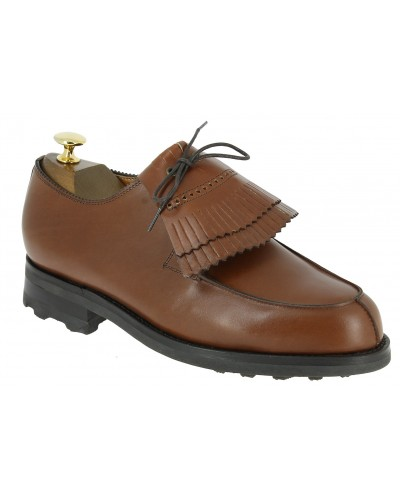 Derby shoe John Mendson 8172 brown leather with tassels