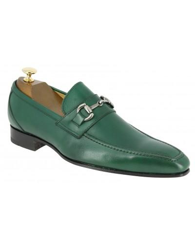 Mocassin Baxton 11467 cuir vert