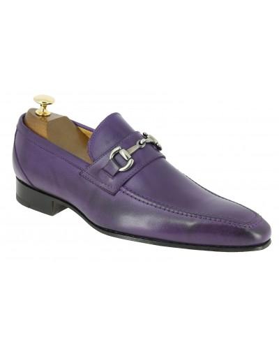 Mocassin Baxton 11467 cuir violet