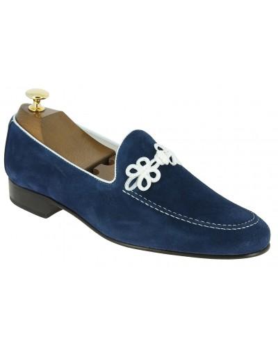 Mocassin slippers sleepers Center 51 brand daim marine