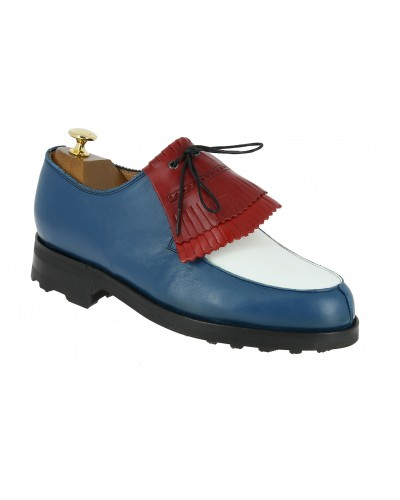 Derby shoe Center 51 8172 Bob multicoloured blue white red leather with tassels