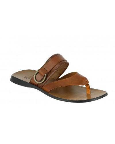 Sandale  Zeus 1728 cuir marron