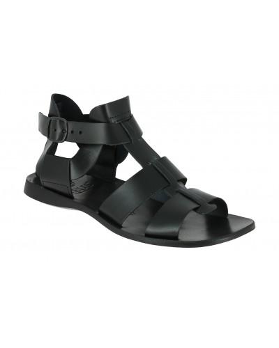 Sandals Zeus 1422 black leather