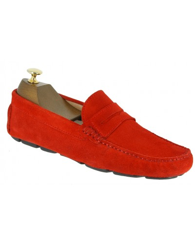 Moccasin Driver Baxton tom red suede