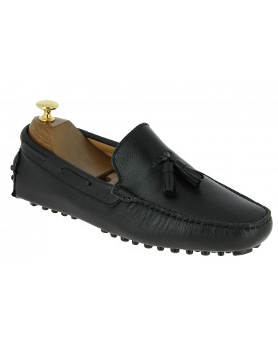 Moccasin Driver Baxton indian black leather