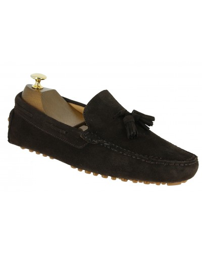 Moccasin Driver Baxton indian brown suede