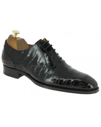 Oxford shoe Mezlan 4338 genuine black crocodile
