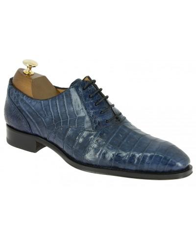 Oxford shoe Mezlan 4338 genuine blue navy crocodile