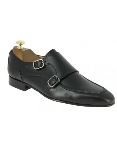 Chaussure à double boucles Center 51 classico 21052 cuir noir