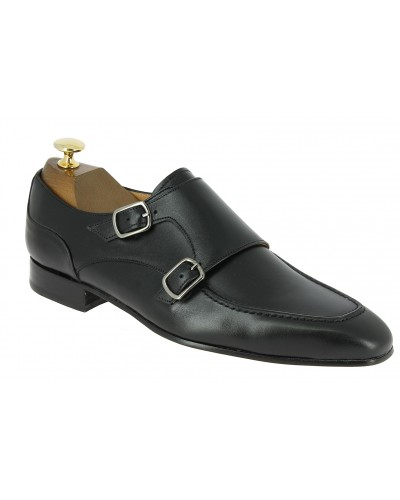 Double Monk strap shoe Center 51 Classico 21052 black leather