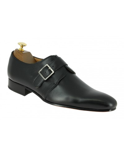 Monk strap shoe Center 51 Classico 6377 black leather