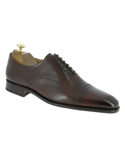 Oxford shoe Center 51 12082 Bret brown leather