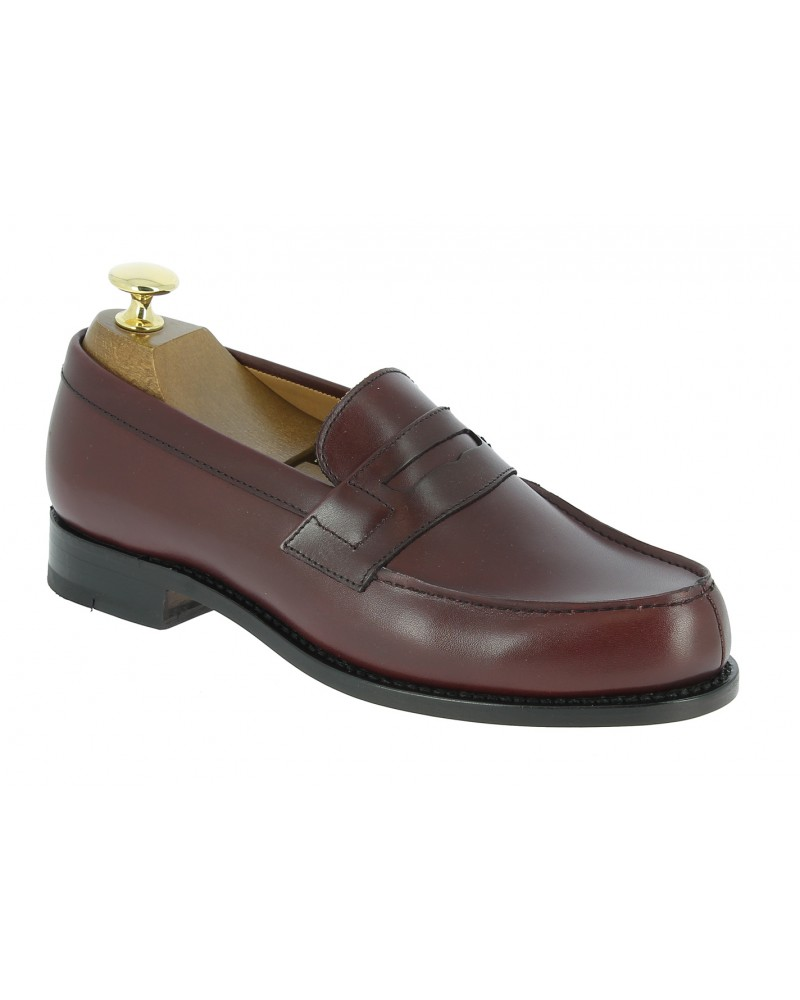 Moccasin Woman Center 51 0622 Wendy burgundy leather