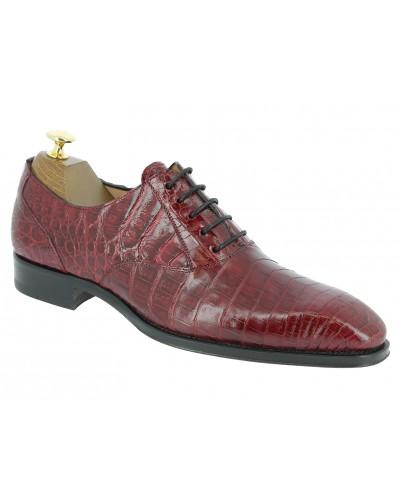 Oxford shoe Mezlan 4338 genuine red crocodile