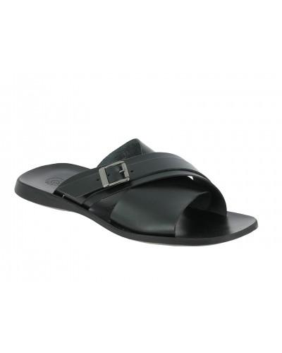 Sandals Zeus 1715 black leather