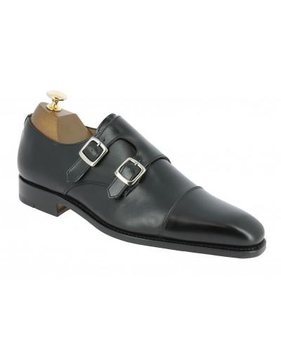Monk strap shoe Center 51 8669 Bill black leather