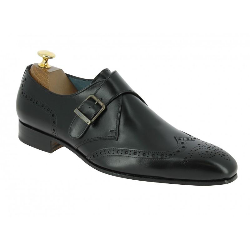 Monk strap shoe Center 51 12290 black leather