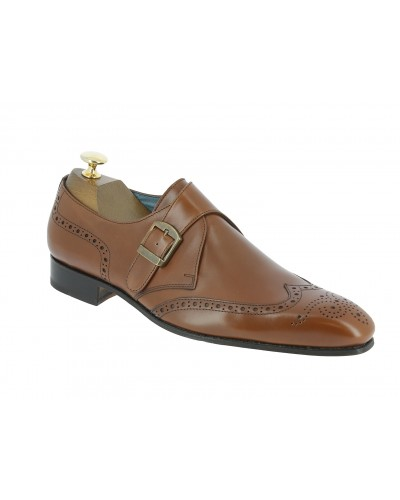 Monk strap shoe Center 51 12290 brown leather