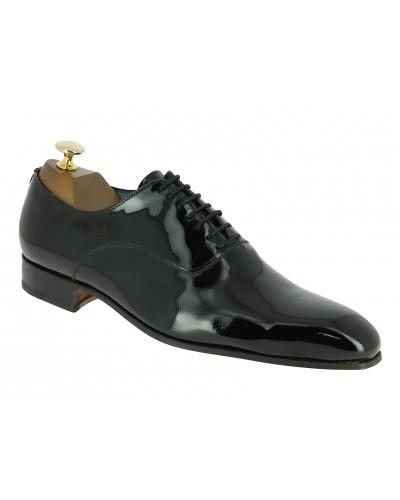 Oxford shoe Center 51 12424 Aldo black varnished leather
