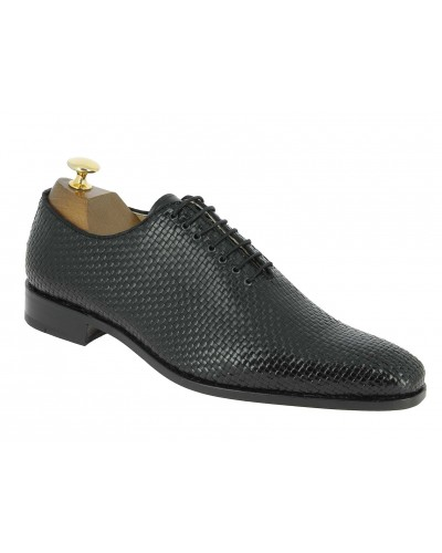 Oxford shoe Baxton 12420 Theo black braided leather