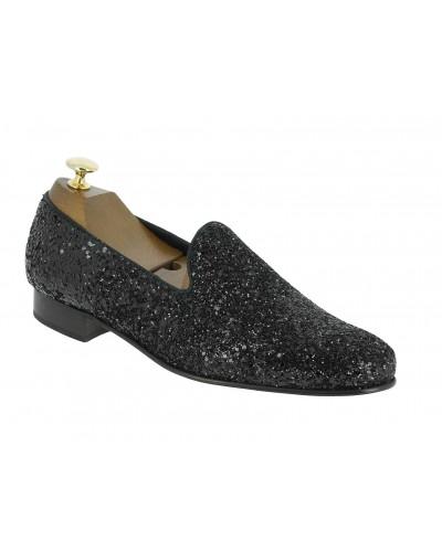 Moccasin slippers sleepers Center 51 Night light black glitter