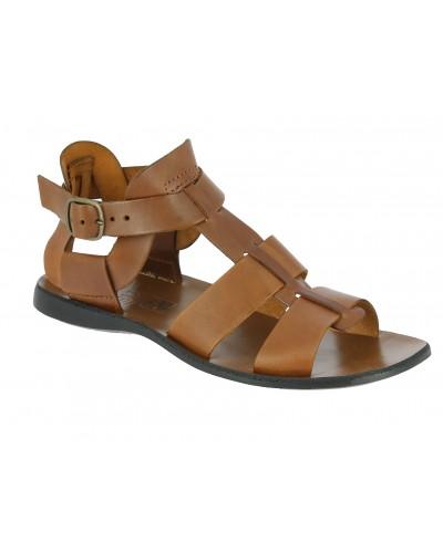 Sandals Zeus 1422 brown leather