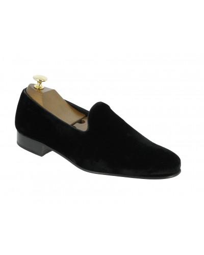 Moccasin slippers sleepers Center 51 Duke  black velvet