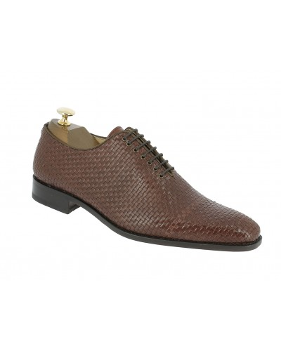 Oxford shoe Baxton 12420 Theo brown braided leather
