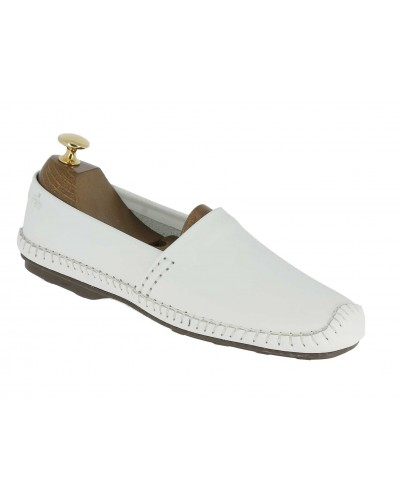 Moccasin Driver Dingo 0610 white leather