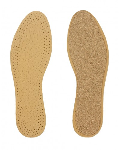Leather and cork insole