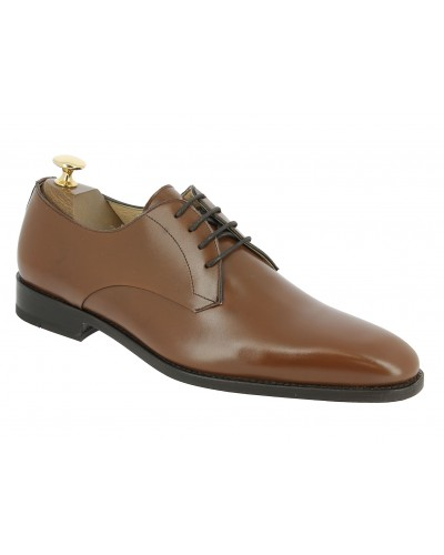 Derby shoe Center 51 12641 brown leather