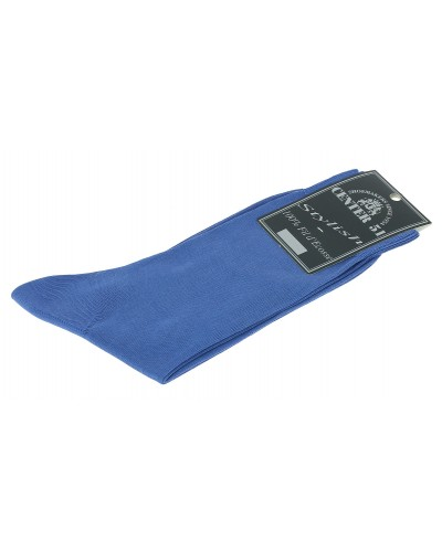 Fine egytian mercerized cotton socks blue electric