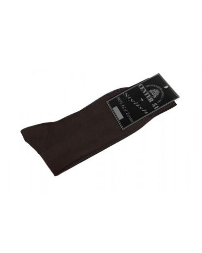 Fine egytian mercerized cotton socks brown