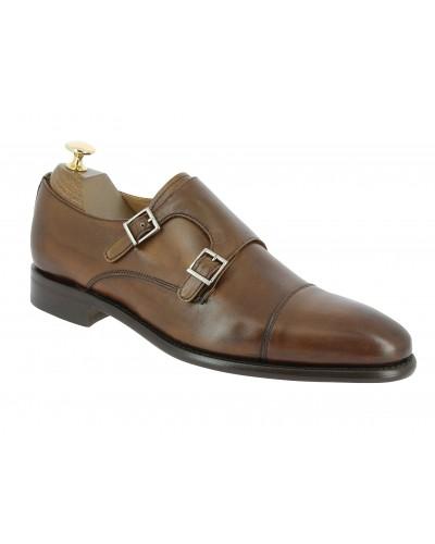 Double Monk strap shoe Berwick 2838 brown leather