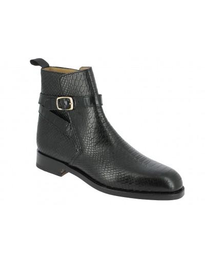 Boot Center 51 6191 Reno black leather python print finish